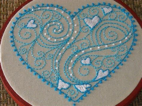 heart embroidery pattern heart embroidery pattern idea projects to try pinterest