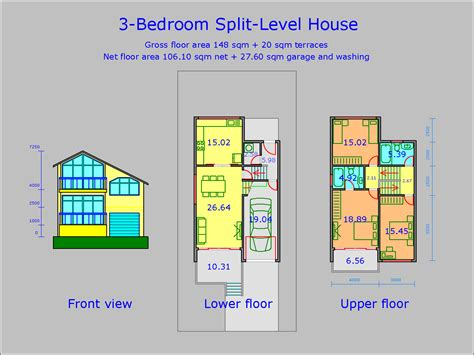 Average Square Meters Of 3 Bedroom House by House Floor Plans Architectural Design Services
