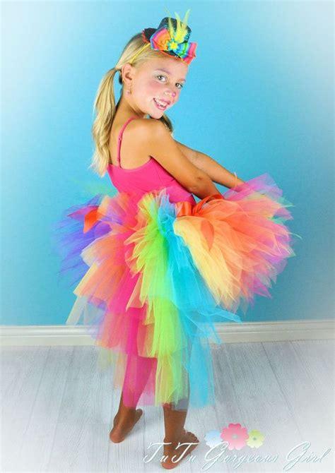 colorful tutu rainbow bustle tutu colorful birthday tutu clown