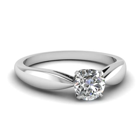 Silver Tapered Bow Ring tapered bow solitaire engagement ring in 14k white gold