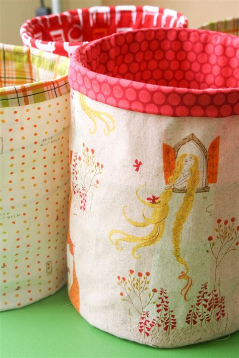 creative diy fabric bins