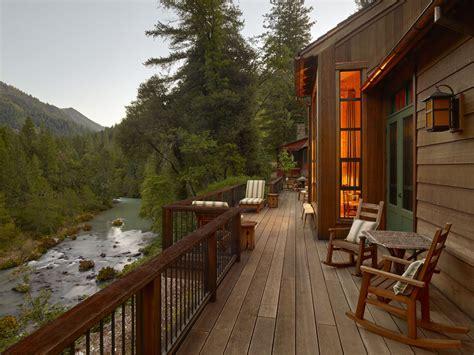wood fishing lodge sleeping cabin  rustic interior