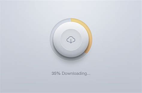 rounded download button psd freebiesbug