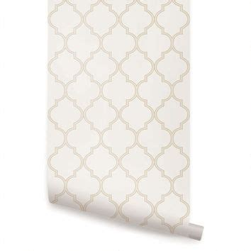 moroccan wallpaper beige peel and stick shop moroccan wallpaper on wanelo
