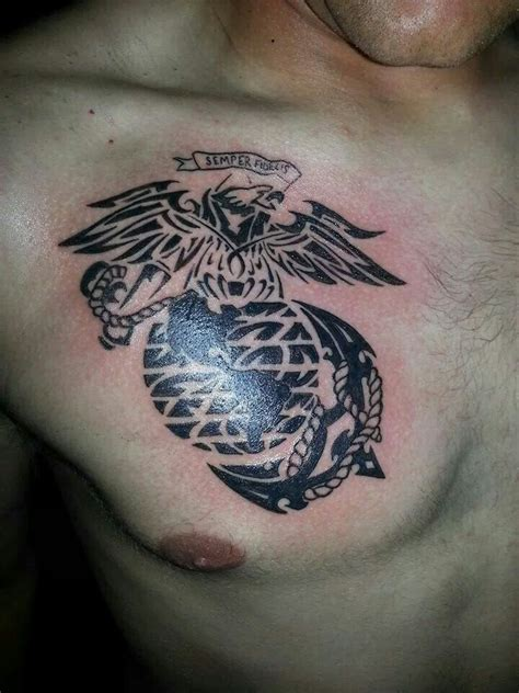 tribal marine corps tattoos marine ega tribal in the skin