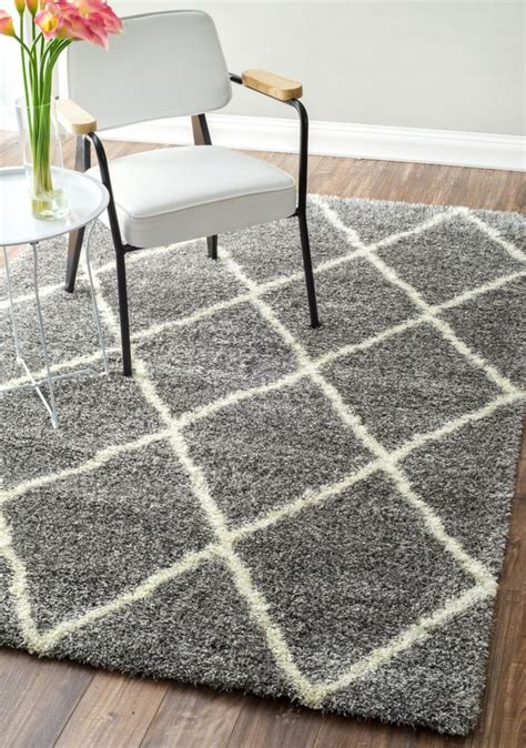 flokati rugs sydney moroccandiamond shag rug ash contemporary rugs and grey