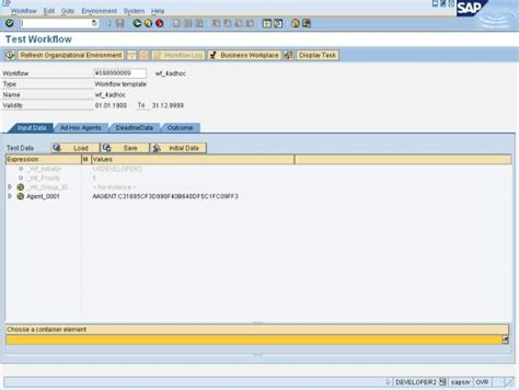 sap workflow assignment saptechnical ad hoc assignment in workflow