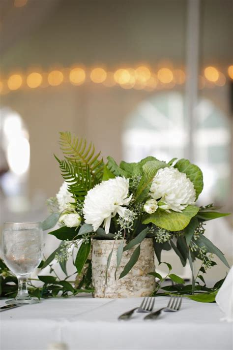 White Birch Wedding Centerpieces Fern Centerpieces Greenery For Wedding Centerpieces