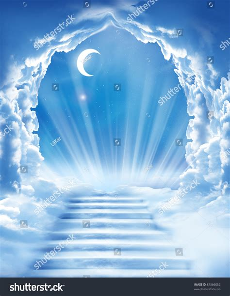 Islamic Fantasystairs Sky Stock Photo 81566059 - Shutterstock Gates Of Heaven Design