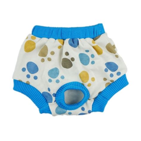 puppy diapers fitwarm duck washable cotton pet sanitary pant clothes apparel