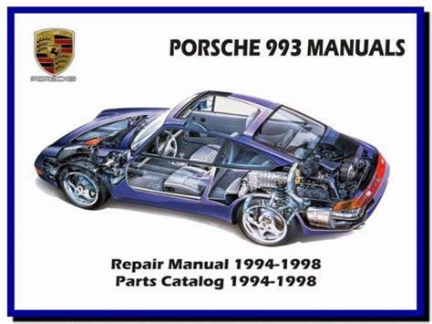 automotive service manuals 1998 porsche 911 user handbook porsche 993 911 carrera repair service workshop manual ebay