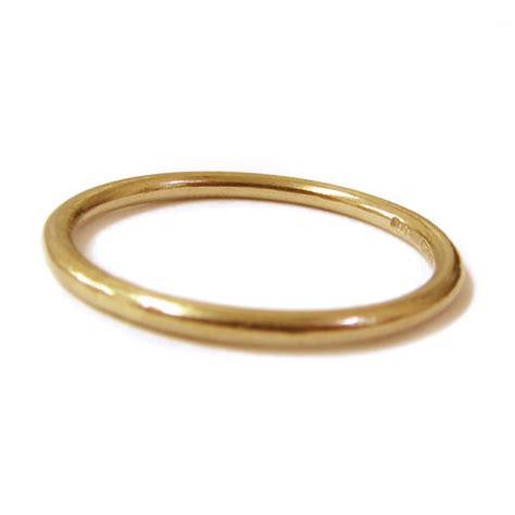 mini dainty 18k yellow gold stacking ring 1mm
