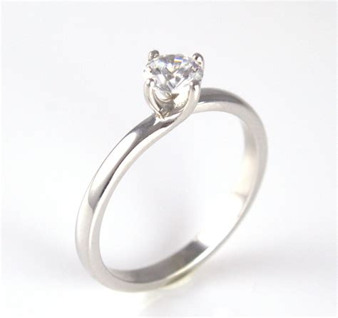 unique solid silver rhodium platinum engagement