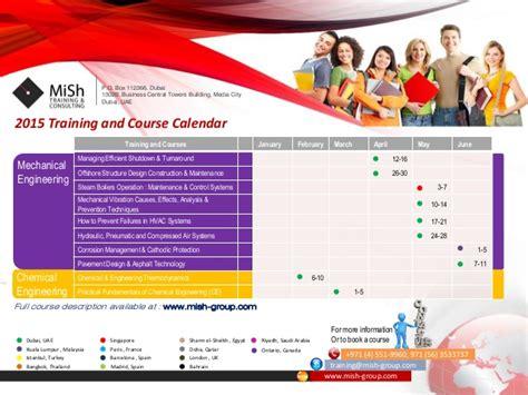 design training calendar mish calendar 2015