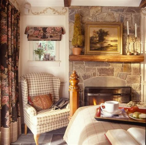 english cottage bedroom a cozy fireplace the focal point of the room