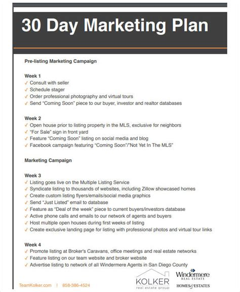 Real Estate Marketing Plan Template Images Free Templates Ideas Real Estate Listing Marketing Plan Template