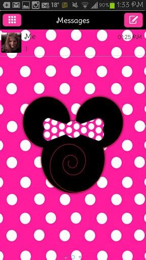 themes android minnie mouse download minnie mouse go sms for android by iphantom