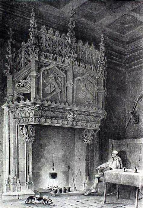 imagenes en antiguas antigua chimenea de huesca ilustraciones de parcerisa