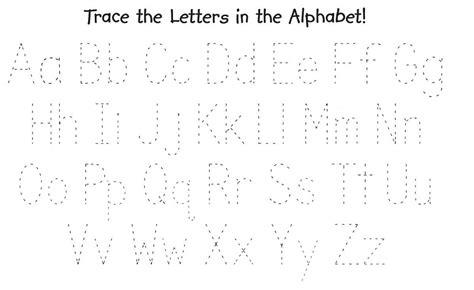 traceable alphabet  worksheets