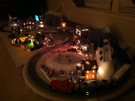layout for christmas village 2012 christmas layout dept 56 snow village and lionel