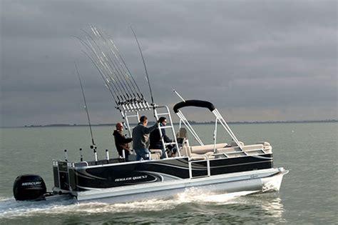 qwest pontoon boats angler qwest singing a new pontoon fishtalk magazine