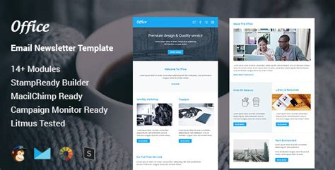 Office Multipurpose Responsive Email Template St Ready Builder By Pennyblack Email Template Builder Software