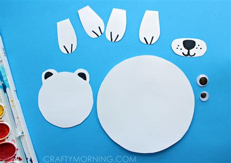 How To Make A Polar Out Of Paper - paper polar on craft for crafty morning
