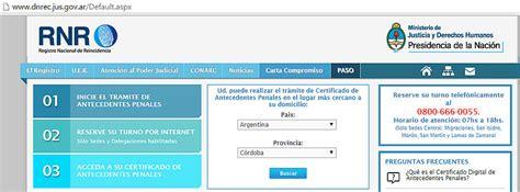 sacar certificado irpf 2015 por internet como sacar turno registro nacional reincidencia