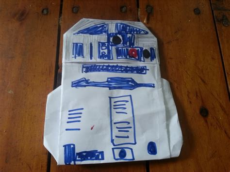 Origami R2d2 - meso think origami this site is the bee s