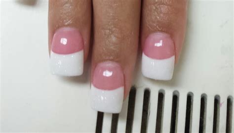 dusky nail beds dark pink acrylic on nail bed with white rockstar on tips