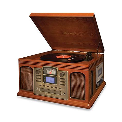 bed bath and beyond turntable crosley turntable cd and cassette unit cr2405a www