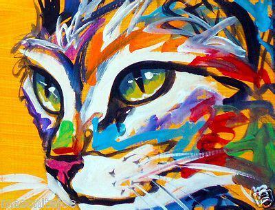 Cat Akrilik Spray cat abstract painting marc broadway cat paintings