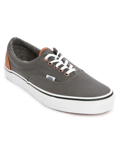 vans era grey vans era canvas leather grey heel in gray for grey