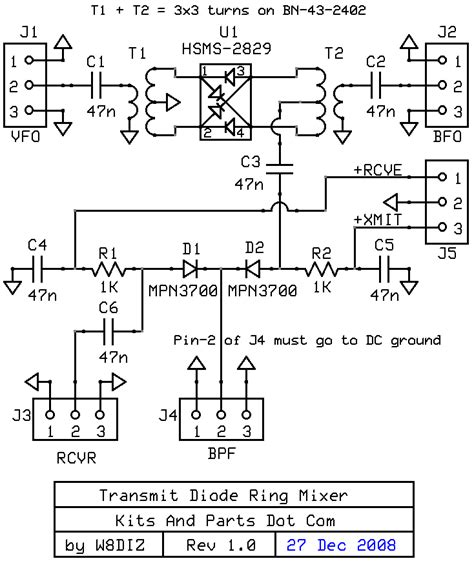 how does a diode ring mixer work transmit diode ring mixer