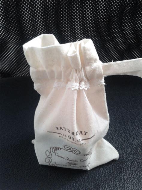 Pouch Tas Serut Blacu Pre Order souvenir pernikahan berbentuk tas serut perdana goodie bag