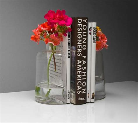 cool dual purpose bookends fish bowl or vase freshome com