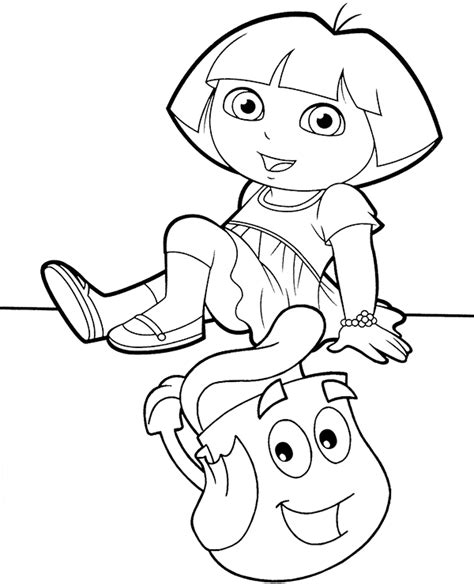 dora backpack coloring page dora and backpack ptintable coloring sheet page