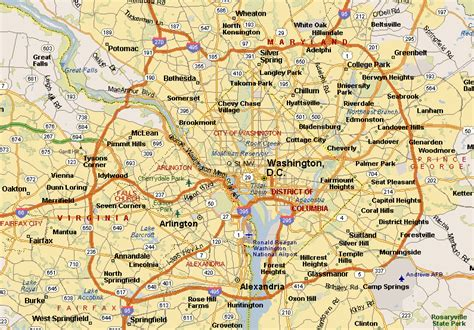 map of dc area map of washington dc and surrounding cities washington dc map