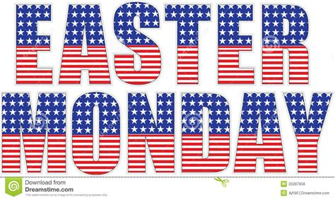 is easter monday a in usa easter monday stock illustration image of letters