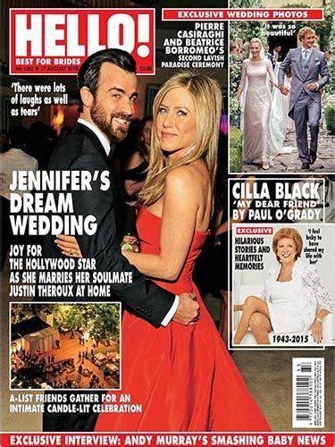 celebrity skin hello issue 1392 jennifer s dream wedding celebrity skin