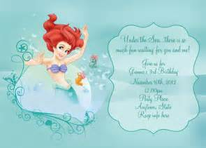 disney the little mermaid invitation digital by digitalparties