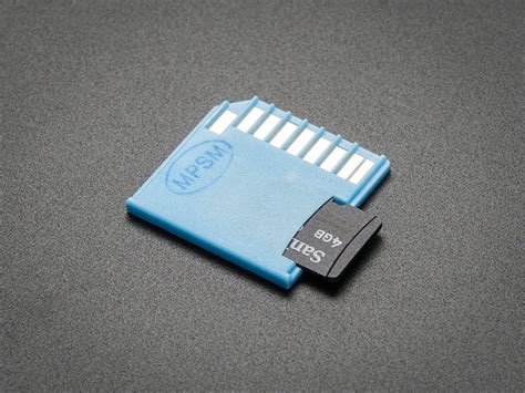 Adaptor Sd Card blue shortening microsd card adapter for raspberry pi