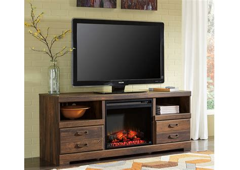 Led Tv Fireplace by Eddie S Furniture Mattress Quinden Large Tv Stand W Led