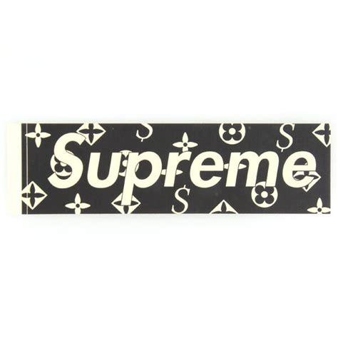 Kaos Tshirt Supreme X Lv Box Gold louis vuitton supreme sticker gallery