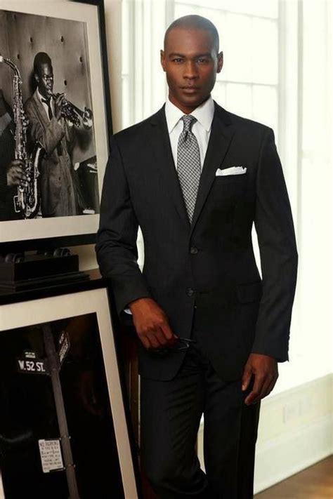 classic suit bald men  style   wear mens