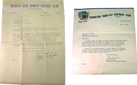 Regret Letter Gc Ca collecting canadian football we regret to inform you