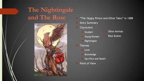 theme of rose and nightingale the nightingale and the rose