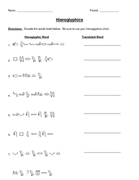 Hieroglyphics Worksheet by Collection Of Hieroglyphics Worksheet Sharebrowse