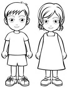 Boy and girl coloring pages az coloring pages