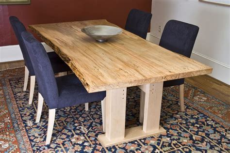 Wood Dining Room Tables custom made ambrosia maple dining table live edge by